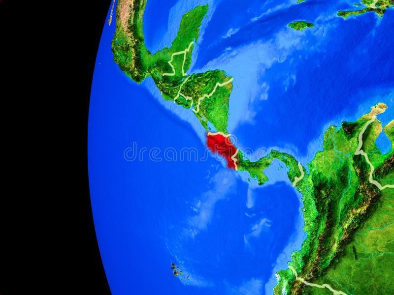 Costa Rica from space vector illustration