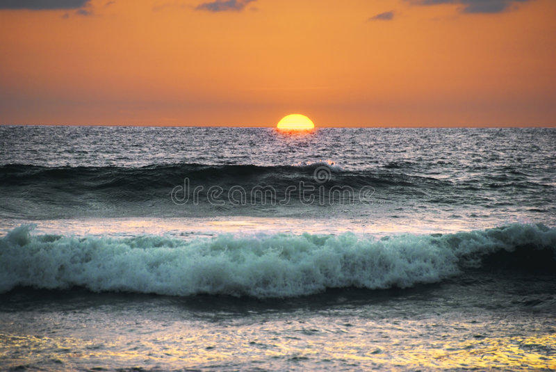 Costa Rica sundown arkivfoto