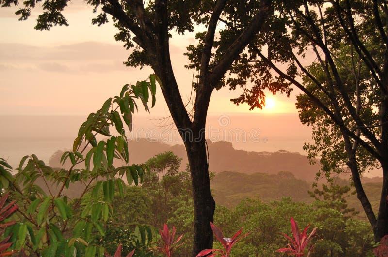 Costa Rica sunset royalty free stock photos