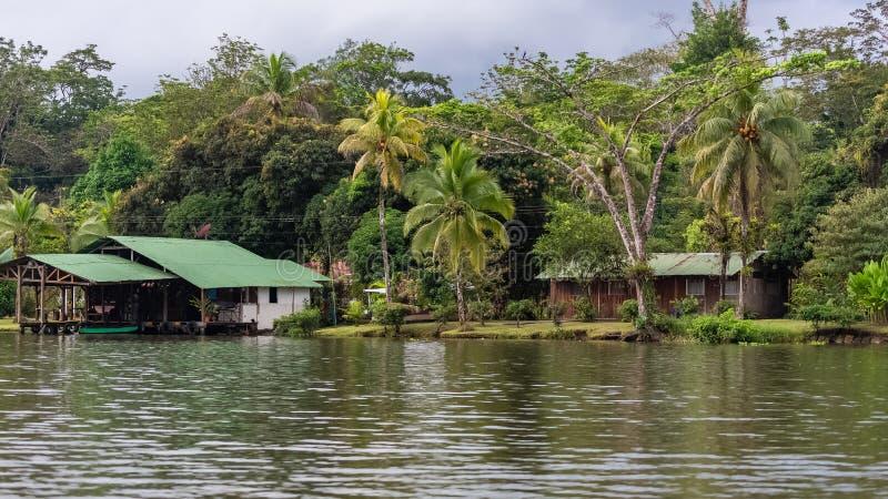 Costa Rica, typowi domy zdjęcie stock
