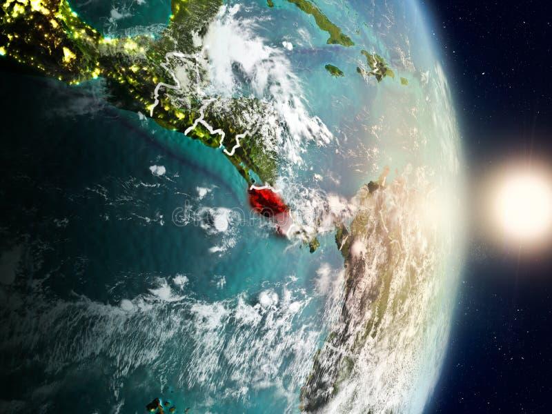 Costa Rica under soluppgång royaltyfri illustrationer