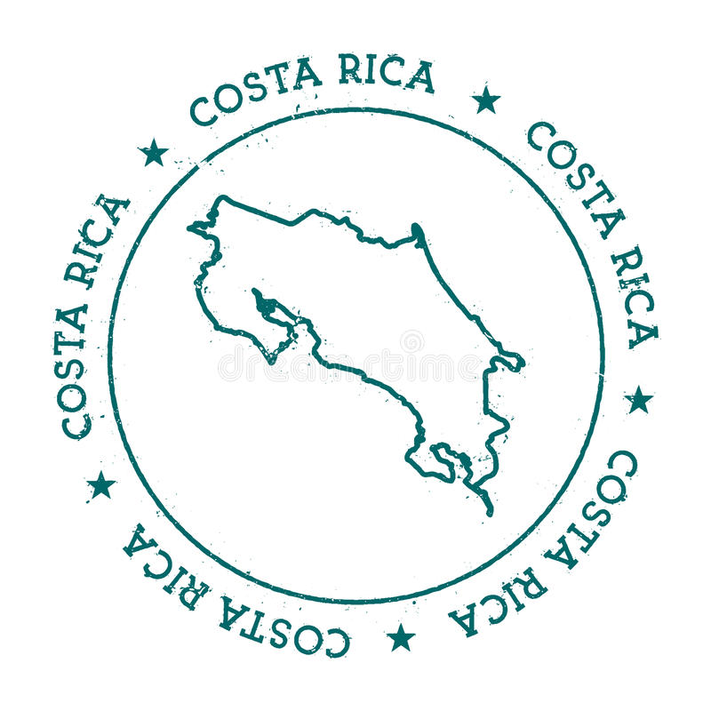 Costa Rica vector map. vector illustration