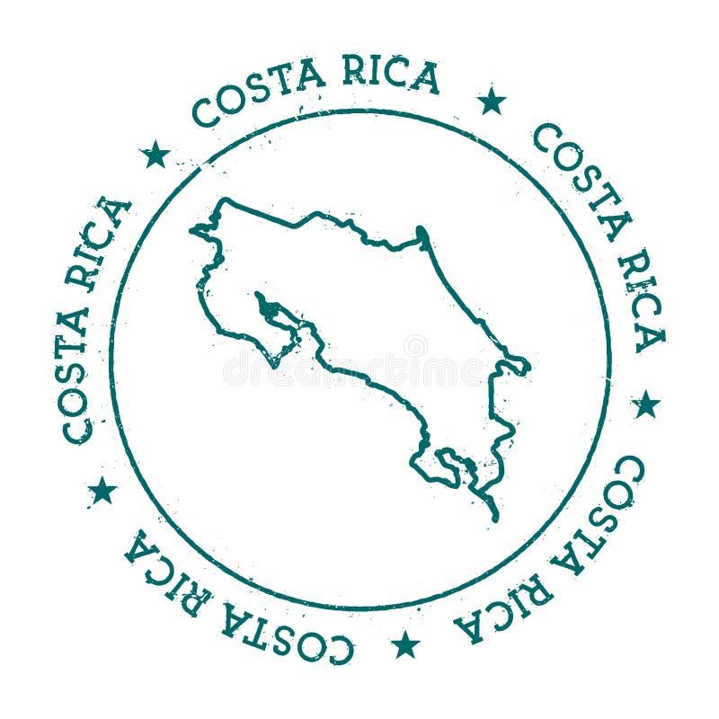 Costa Rica vektoröversikt vektor illustrationer