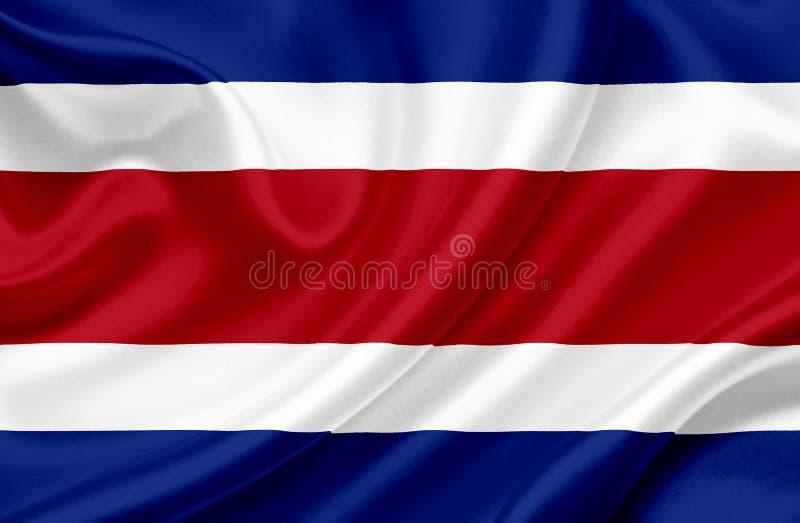Costa Rica vinkande flagga vektor illustrationer