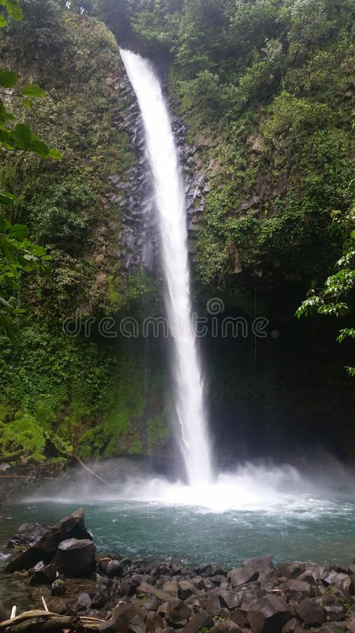 Costa Rica waterfall. Vacation beautiful royalty free stock photos
