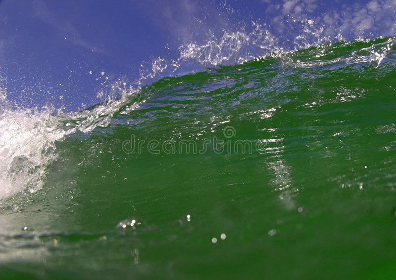 Costa Rica Wave And Sky Stock Photo