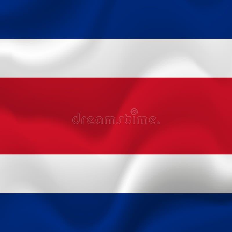 Costa Rica waving flag. Vector illustration. vector illustration