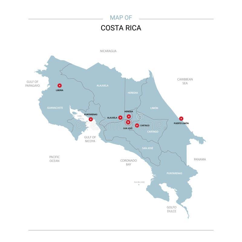 Costa Rica wektorowa mapa ilustracja wektor