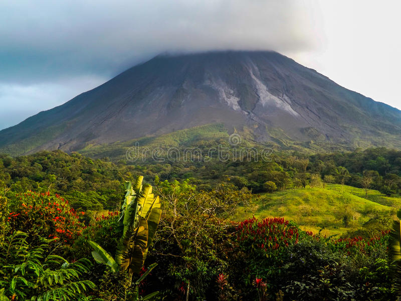 Costa Rica wulkan Arenal zdjęcie royalty free
