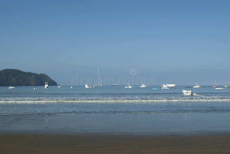 Parked Costa Rican Boats royalty free stock photography