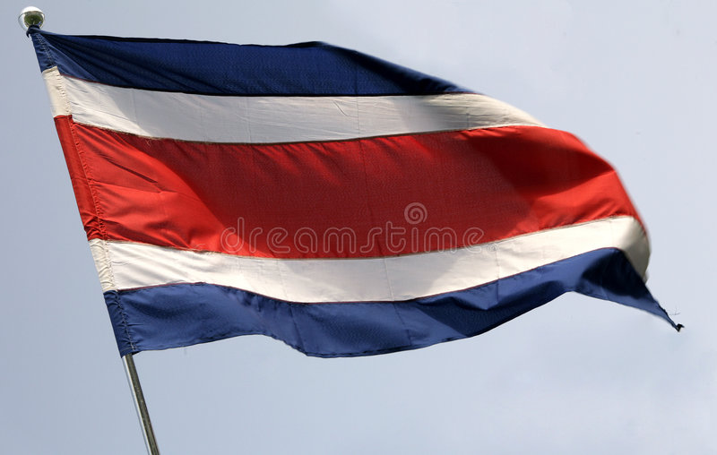 Costa rican flag royalty free stock images