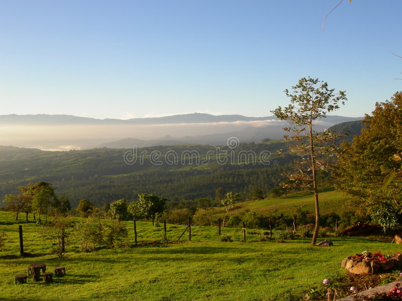 Costa Rican Landscape royalty free stock photo