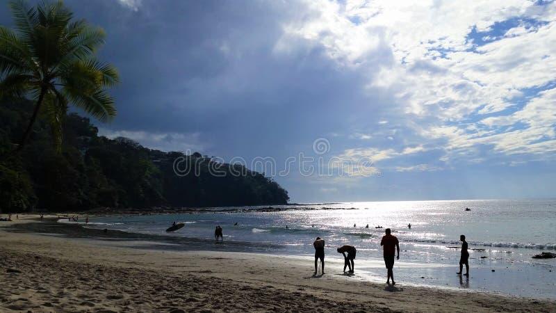Costa Rican Plaża zdjęcie stock