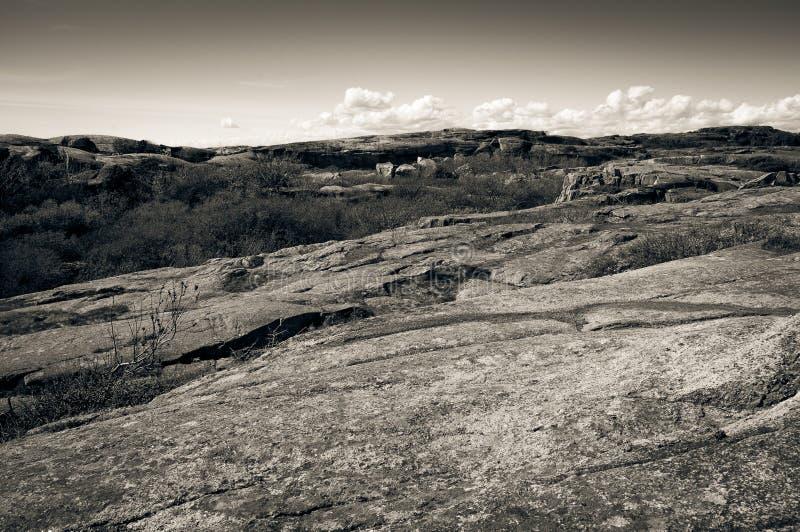Costa rochosa na extremidade de Verdens, Noruega fotos de stock