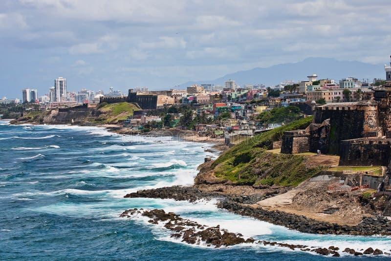 Costa rocosa de Puerto Rico imagen de archivo