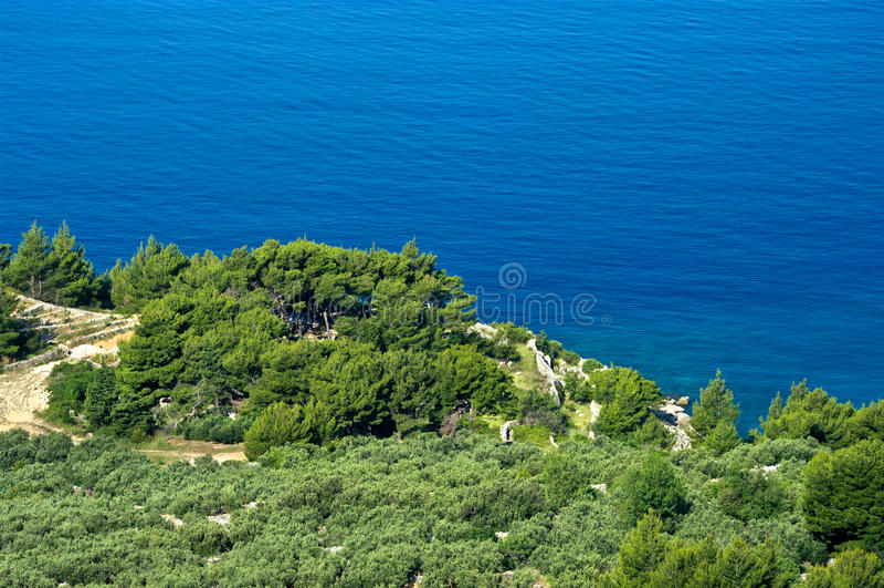 Costa rocosa en Croatia foto de archivo libre de regalías