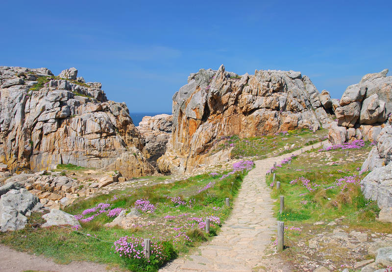 Costa rosada del granito, Bretaña fotos de archivo