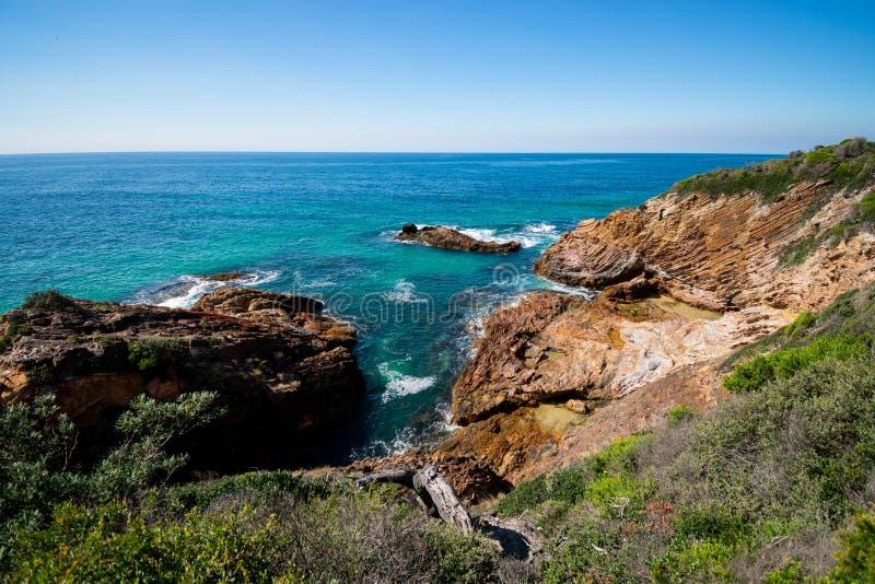 Costa costa rugosa de Australia foto de archivo