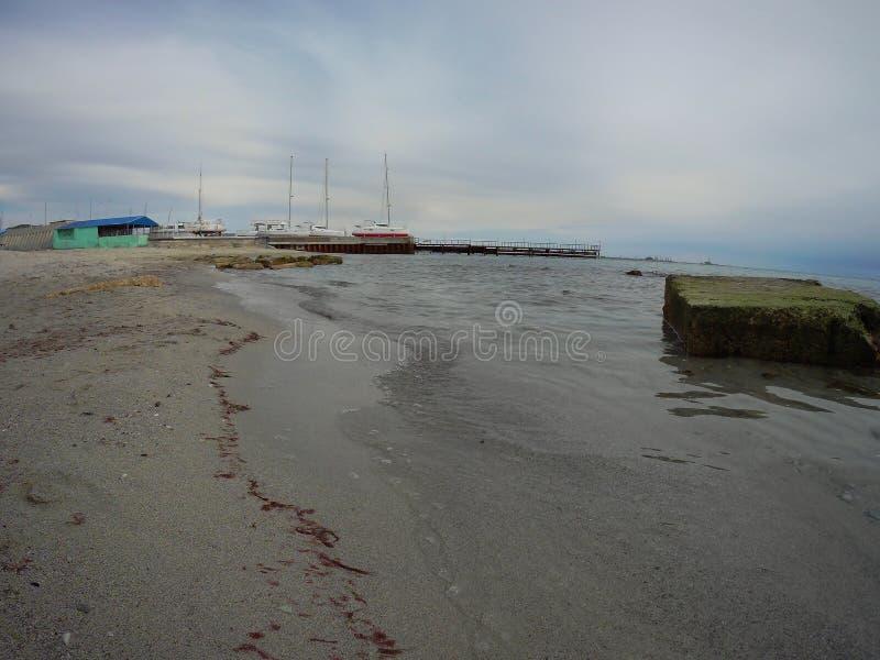 Costa sabbiosa del mar Caspio immagine stock libera da diritti