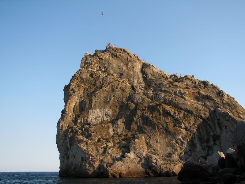 Costa Simeiz Crimea del Mar Negro el gato de la montaña foto de archivo libre de regalías