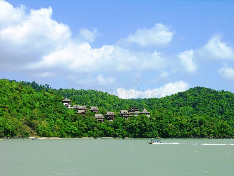 Costa sud di Langkawi, Malesia fotografia stock