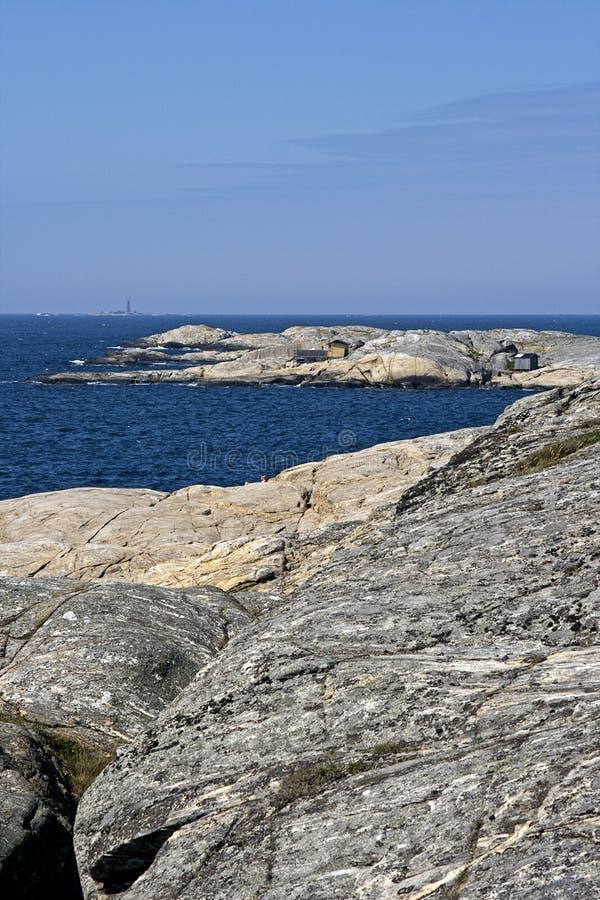 Costa sueco do arquipélago fotografia de stock