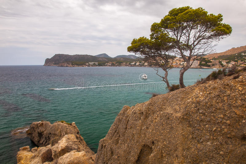 Costa sur de la isla de Mallorca foto de archivo