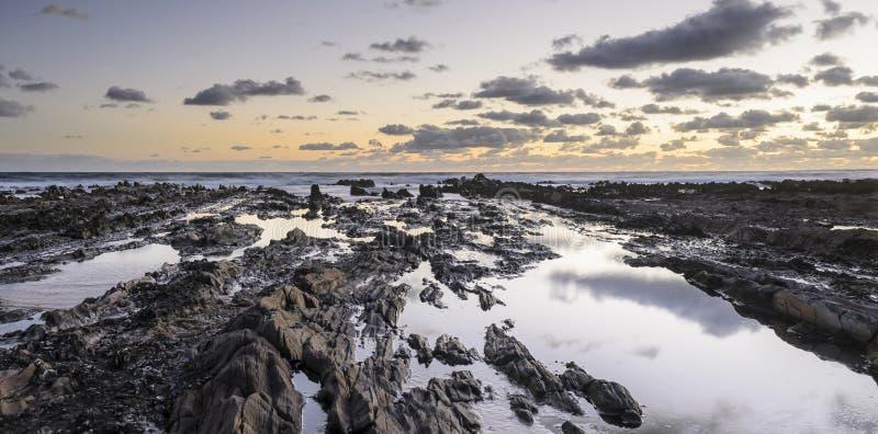 Costa tranquila, Rocha, Uruguay imagen de archivo