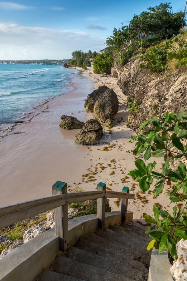 Costa tropical bonita com água clara imagem de stock royalty free