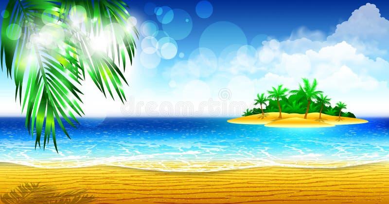 Download Costa tropical do console ilustração do vetor. Ilustração de planta - 26520788