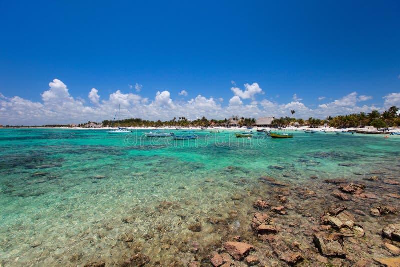 Costa tropical en México fotografía de archivo