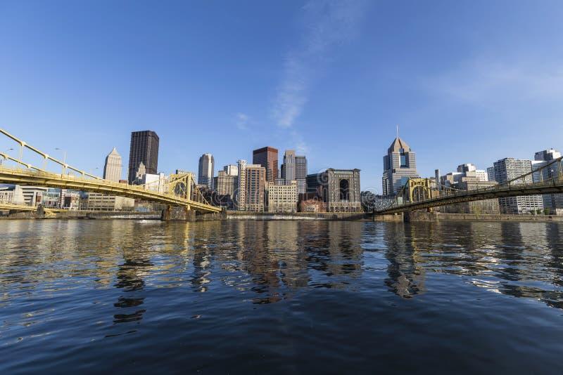 Costa urbana céntrica de Pittsburgh Pennsylvania fotos de archivo