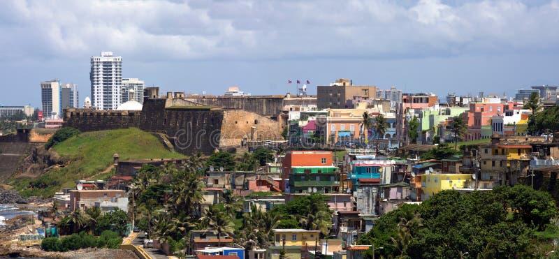 Costa velha de San Juan imagem de stock
