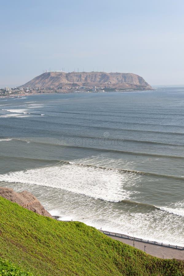 Costa Verde en Lima, Perú fotos de archivo libres de regalías