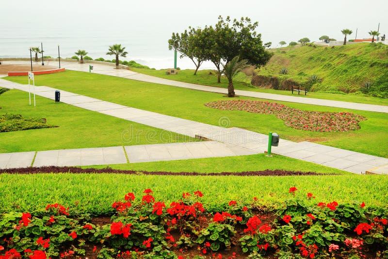 Costa Verde (Green Coast) in Miraflores. Playground in a park on the Costa Verde (Green Coast) in Miraflores, Lima, Peru royalty free stock photos