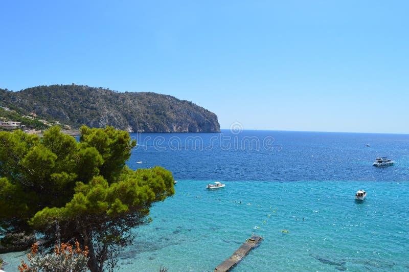 Costa y mar en Majorca fotografía de archivo