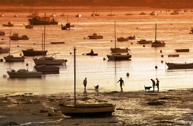 Costal scena Brittany, Francja - zdjęcie royalty free