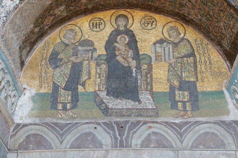 Download Costantina E Justinian Fanno Le Offerti A Vergine Maria Immagine Stock - Immagine di sacred, architettura: 55350225
