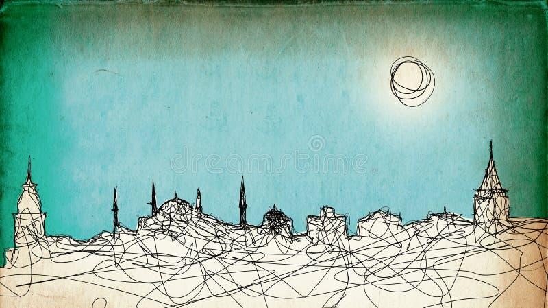 Costantinopoli illustrazione vettoriale