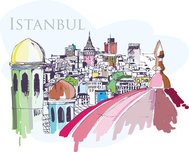 Costantinopoli royalty illustrazione gratis