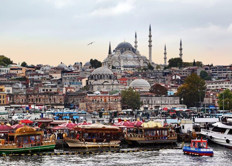 Costantinopoli al crepuscolo immagini stock