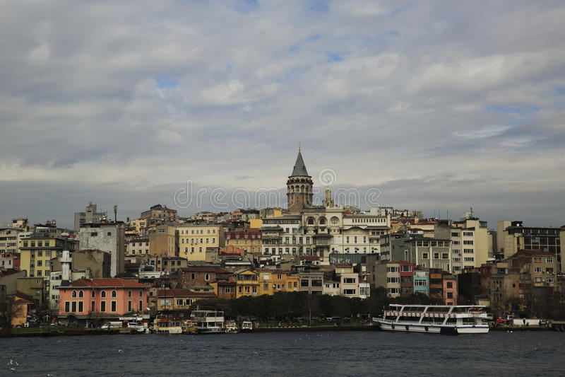 Torre di Galata, Costantinopoli immagini stock