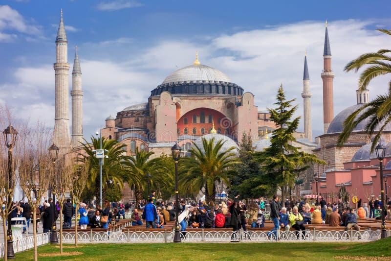 Haghia Sophia a Costantinopoli Turchia immagini stock libere da diritti