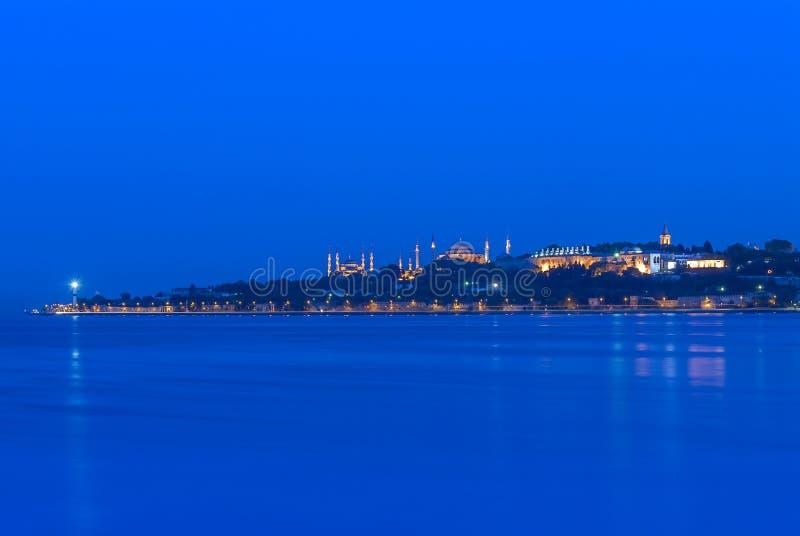 Costantinopoli, Turchia, il 30 giugno 2007: Il palazzo di Topkapi ed il contentino di Hagia fotografia stock