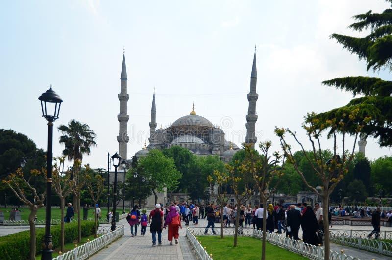 Costantinopoli, Turchia - PUÒ, 10 2018: Moschea del blu della moschea di Ahmed del sultano fotografia stock libera da diritti