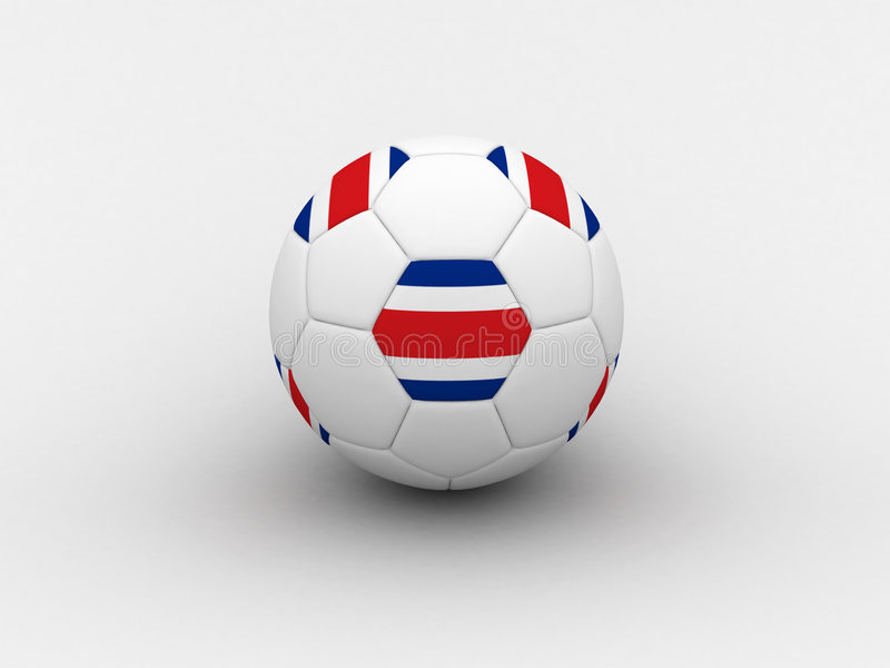 Costarica Soccer Ball Royalty Free Stock Images