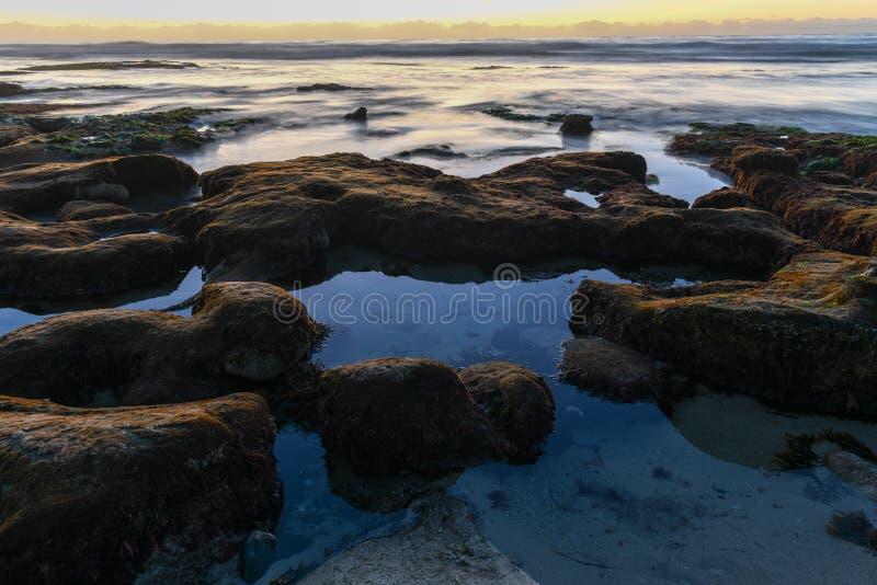 Costas de La Jolla - San Diego, Califórnia fotografia de stock