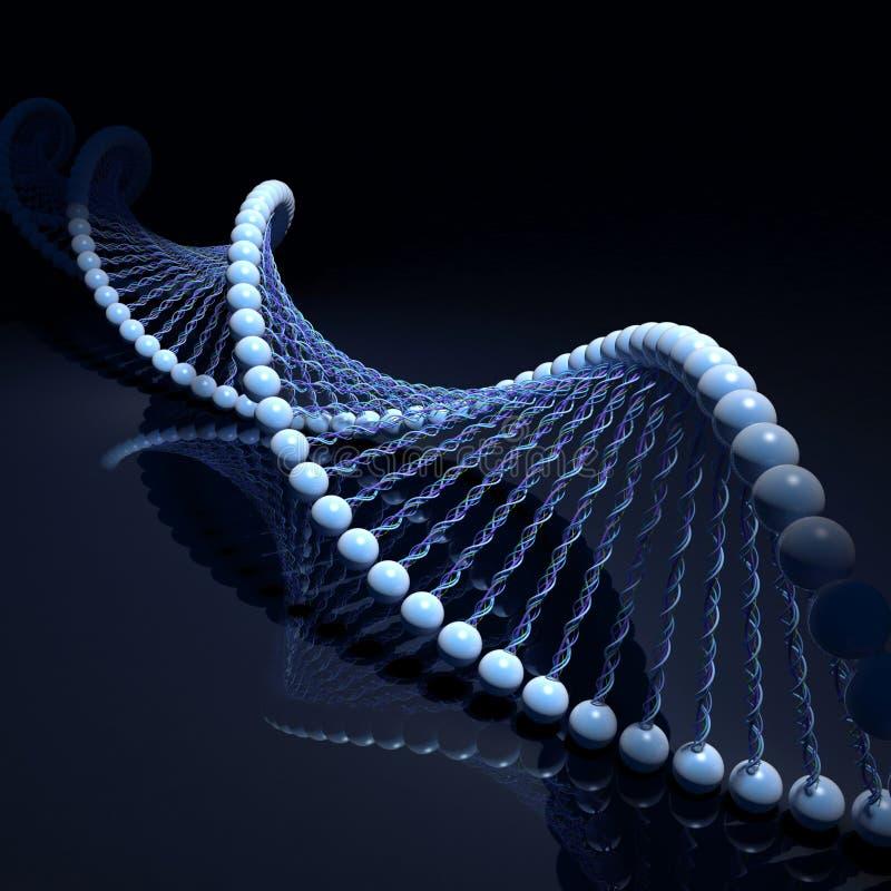 Costas do ADN ilustração stock