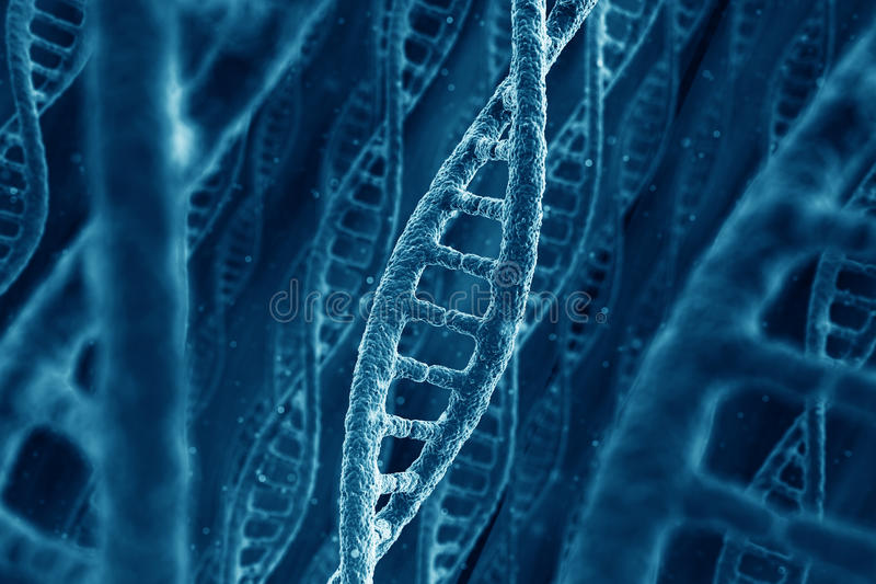 Costas do ADN ilustração do vetor