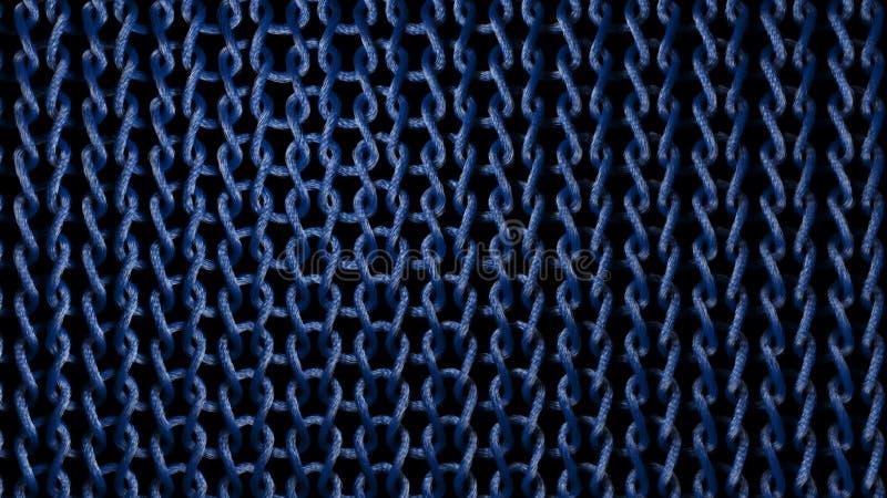 Costas materiais azuis tecidas ilustração royalty free